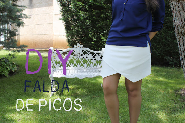 DIY ropa cómo hacer la falda de picos. Blog de moda costura y diy.