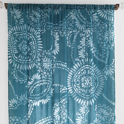 lace medallion velvet burnout curtain everything turquoise