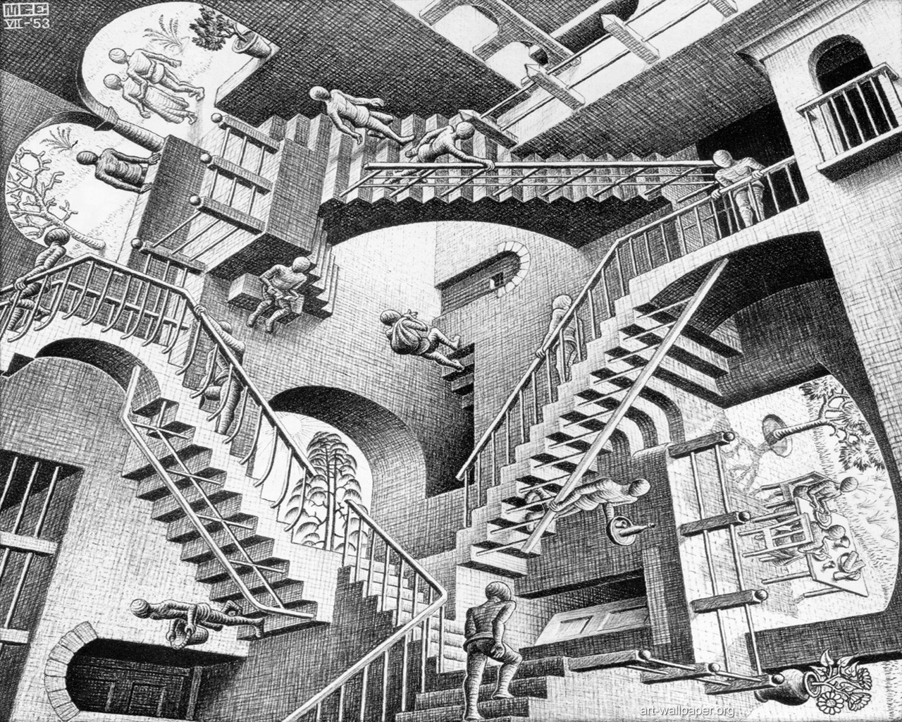 <b>Escher Wallpaper</b> - WallpaperSafari