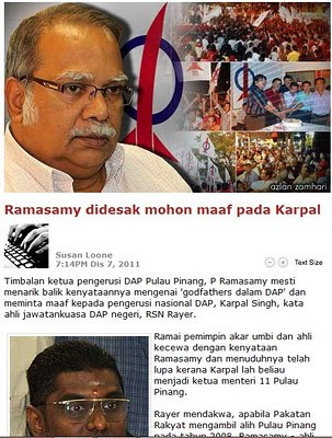 Gerakan Manjung Gelar Karpal Godfather Ramasamy Didesak Mohon Maaf