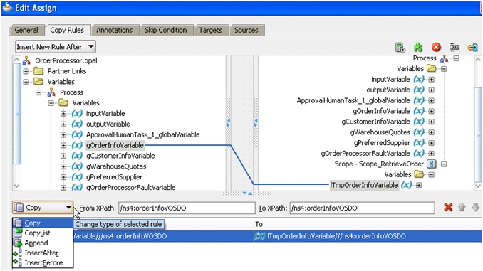 extension assign operation bpel
