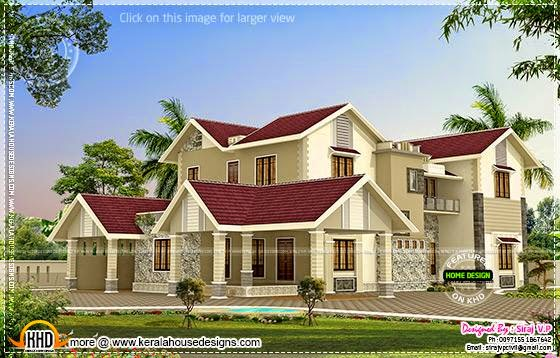 Modern Mix Kerala House Elevation In Different Colors Kerala Home Design An