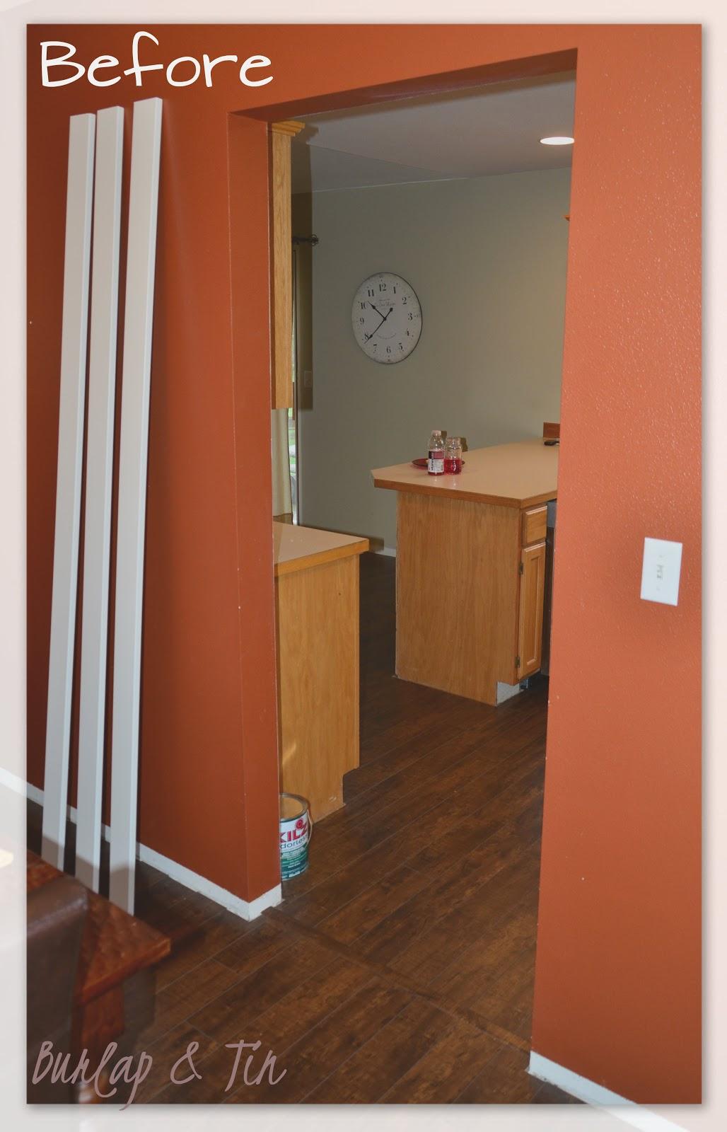 Burlap Tin New Doorways Say Hello