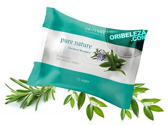 Toalhetes de Limpeza Tea Tree e Alecrim Pure Nature da Oriflame