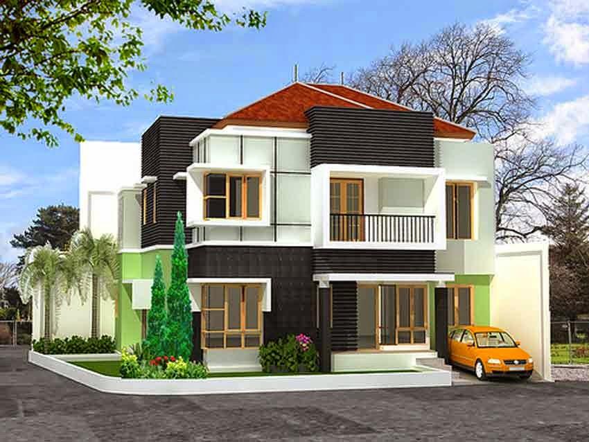 Model Desain Rumah Tingkat Minimalis Modern