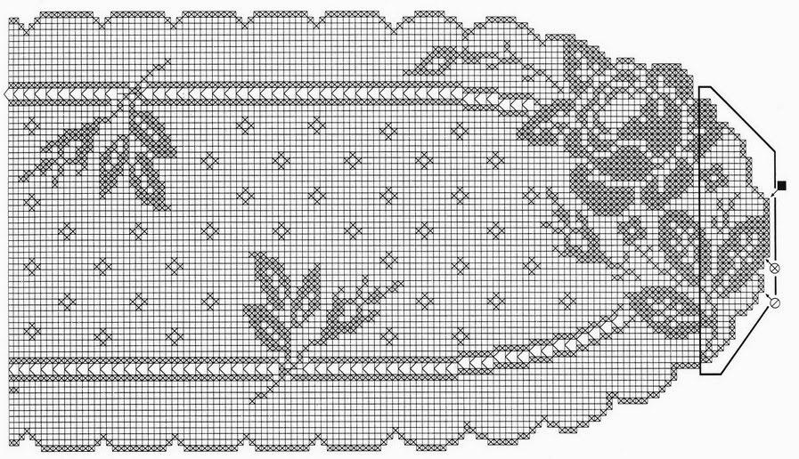Филейное вязание салфетки скатерти схемы 23