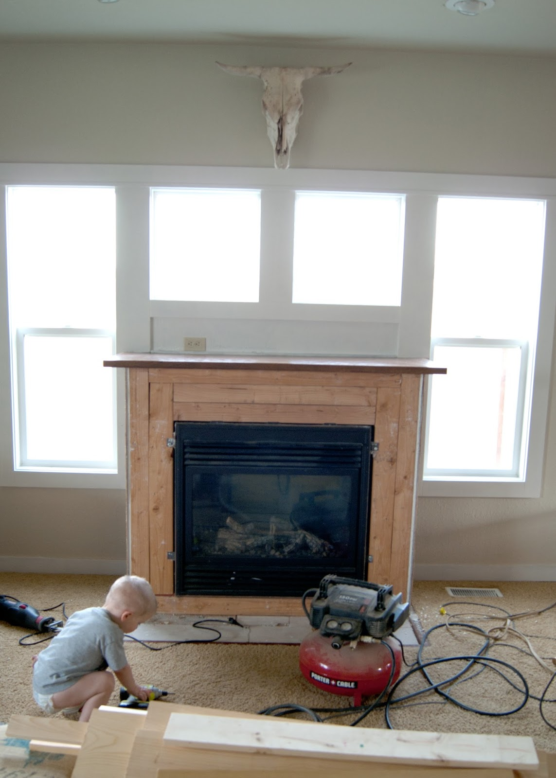 demo day on the fireplace
