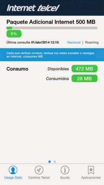 App Consumo de Internet