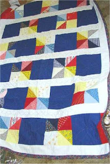 Quilting with half-square triangles fast and easy.