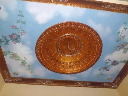 jasa cat dekorasi motif lis ornament plafon gypsum