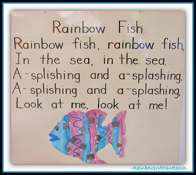 Rainbow Fish Piggy Back Song {Ocean RoundUP at RainbowsWithinReach}