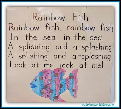 Rainbow Fish Piggy Back Song {Ocean RoundUP at RainbowsWithinReach}