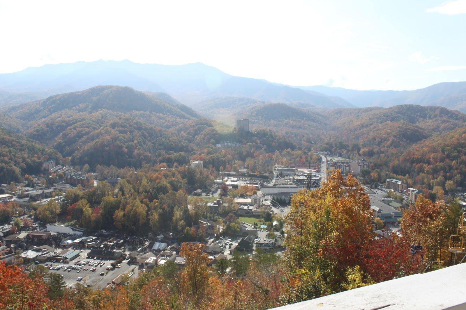 gatlinburg, autumn, mountain, chair lift