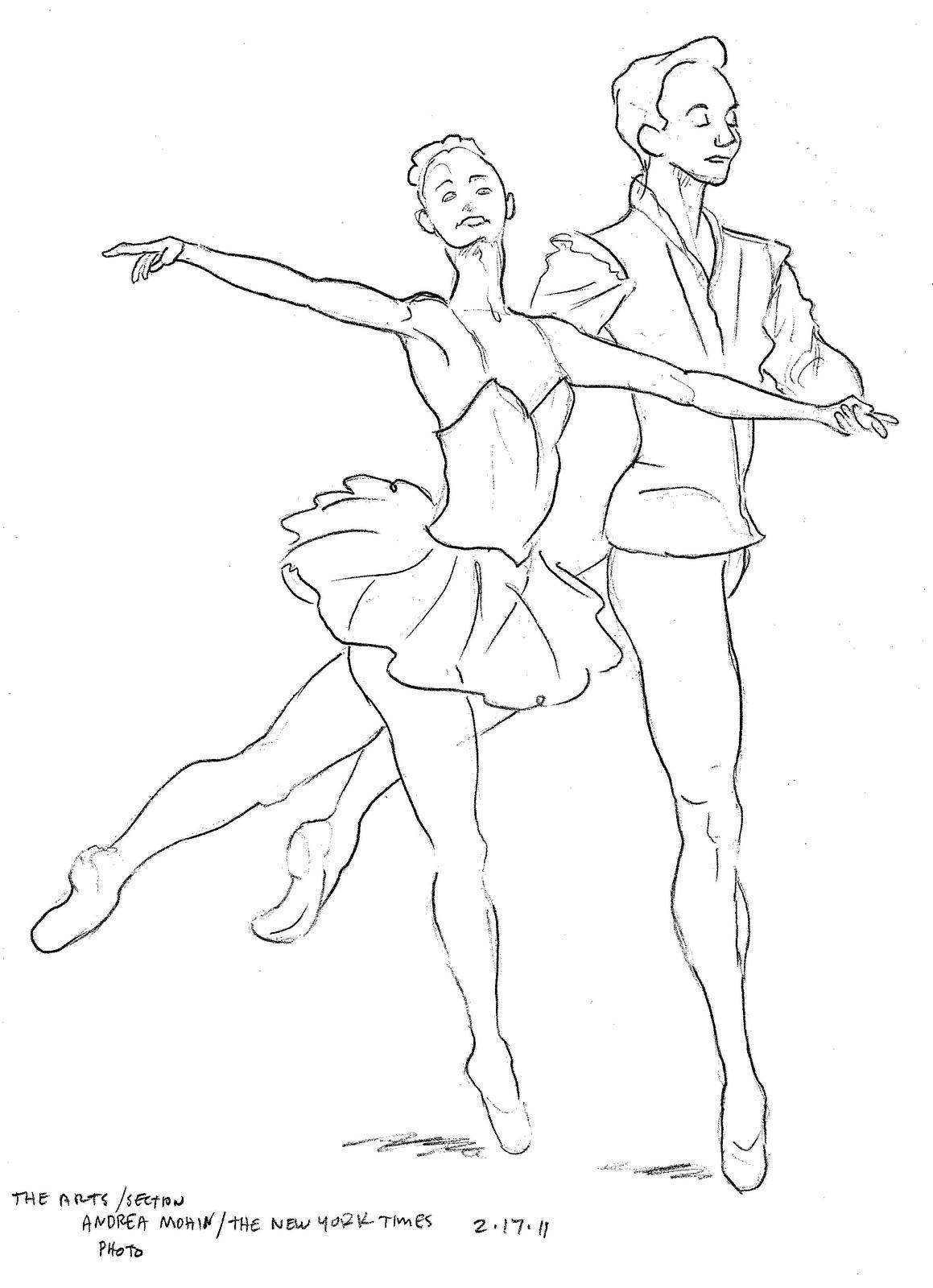 Ballerina Ballet Dancer Coloring Page