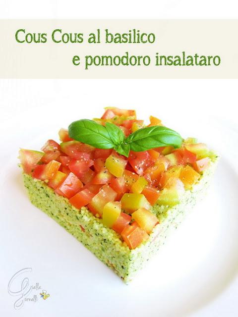 Cous Cous basil and tomato insalataro - Cous Cous basilico e pomodoro insalataro