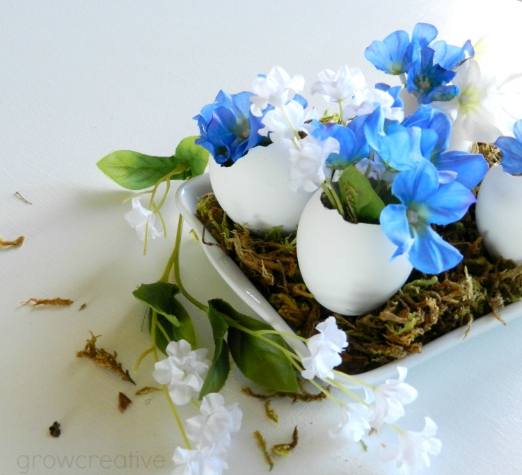 Floral Stuffed Egg Vases Tutorial:  Grow Creative