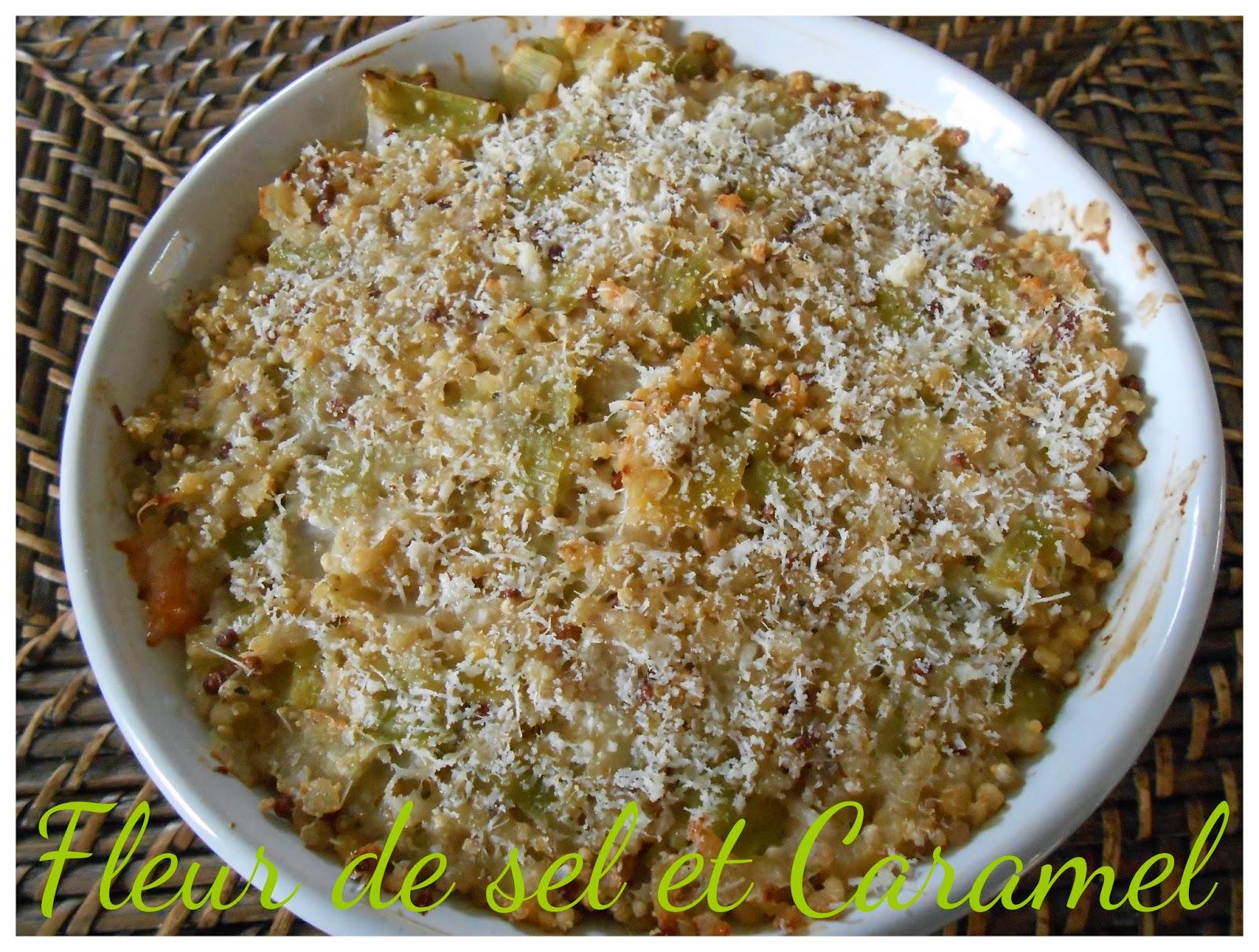Gratin de quinoa au saumon et poireau à la bretonne