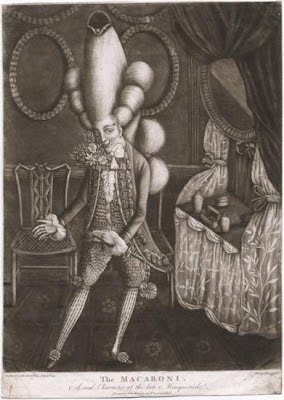 Macaroni. Movimiento que surgió en Inglaterra hacia 1770.