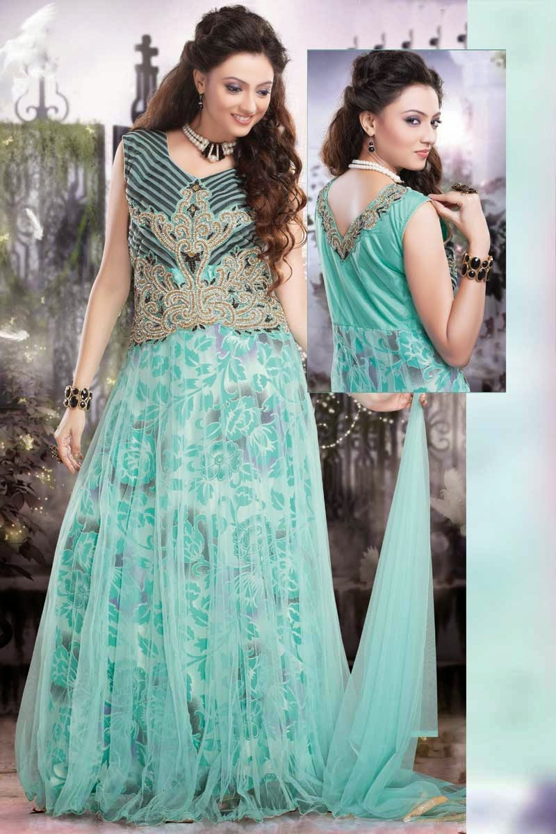 albarino net: Embroidered Maxi Dress Gown and Stylish Anarkali Suits