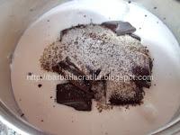 Prajitura cu crema de ciocolata ganache preparare