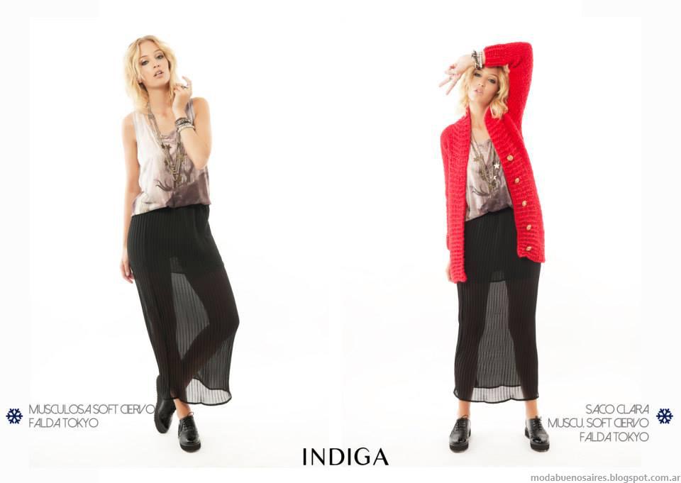 Moda otoño invierno 2014 en ropa de mujer colección Indiga otoño invierno 2014.