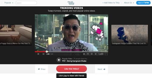 Telly comparte tus videos favoritos - www.dominioblogger.com