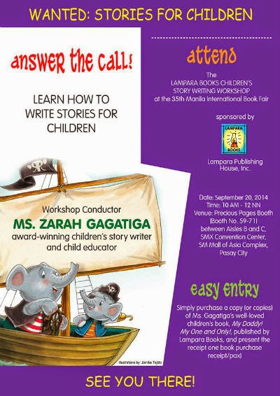 The Other Workshop That I Discovered And Im Excited To Attend On Saturday Is Childrens Story Book Writing