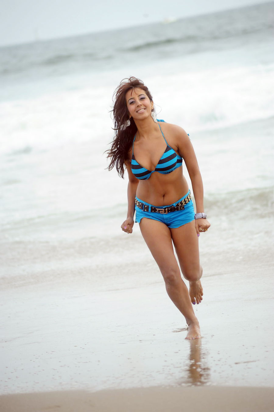 sanjjana bikini beach latest photos