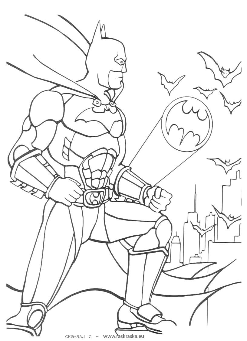 batman coloring in pages - photo#24
