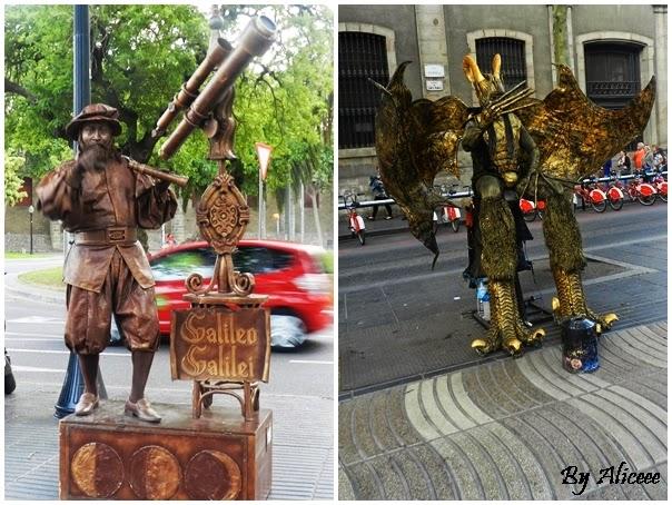 statui-umane-barcelona-rambla