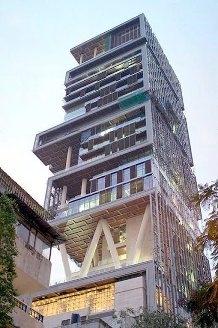 antilia, building, mumbai, south mumbai, india, expensive, house, residence, world, twenty, seven, stories, tallest