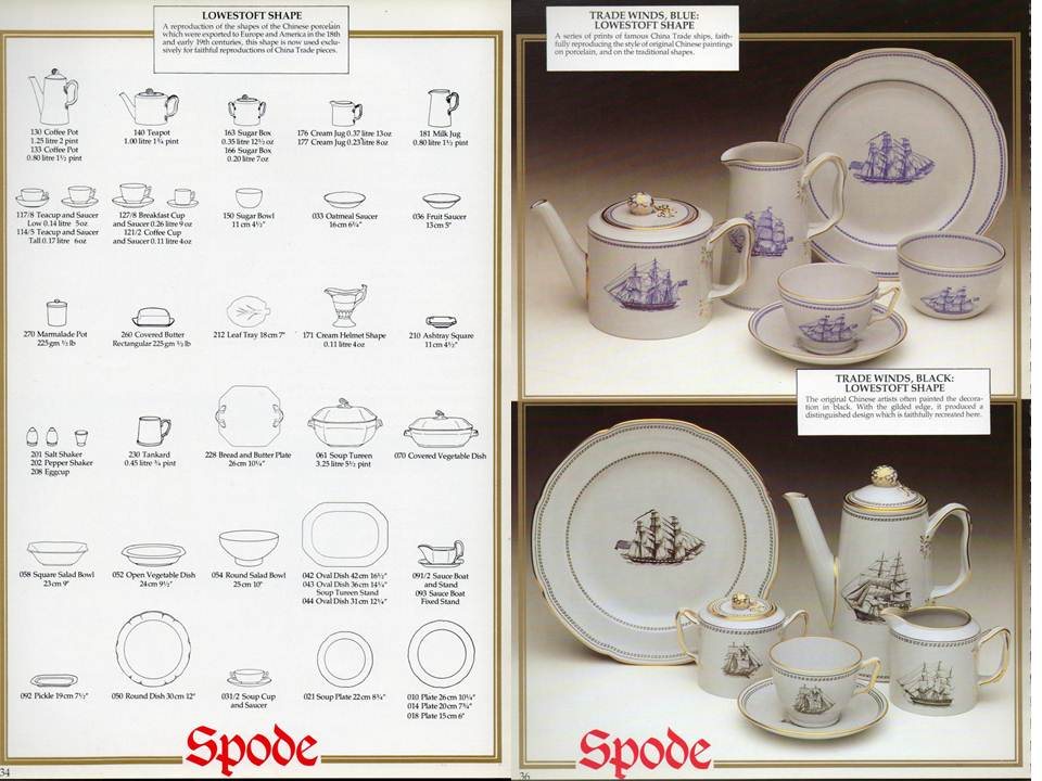 Trade Winds Blue and Trade Winds Black & Spode History: Spode and Trade Winds