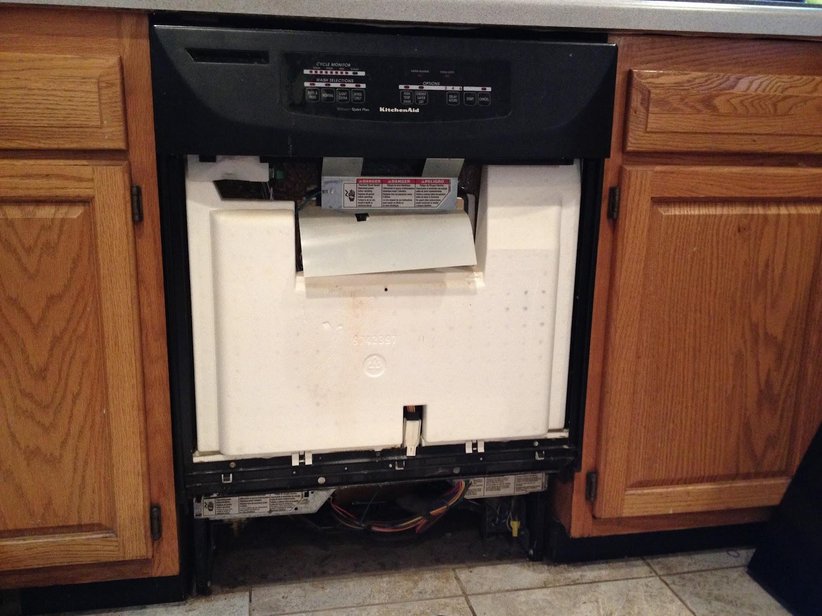 Dishwasher door will not open how to fix broken door for Kitchen aid dishwasher repair