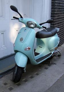 duck egg blue vespa clerkenwell london design week