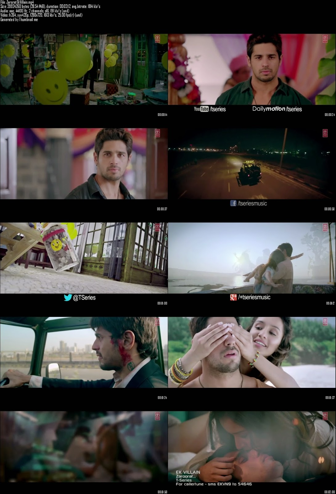 Mediafire Resumable Download Link For Video Song Zaroorat - Ek Villain (2014)