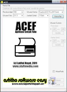 ACEF 2011 - Aplikasi Cetak Foto