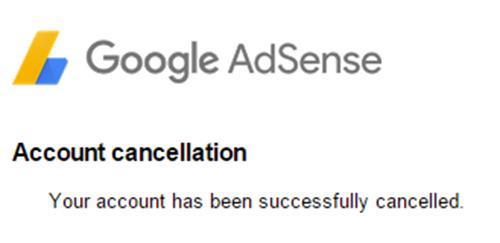 Cara Membatalkan Atau Menghapus AdSense 7