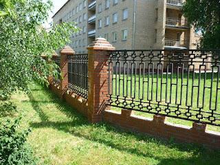 Забор металлический из профильной трубы. Фото 13