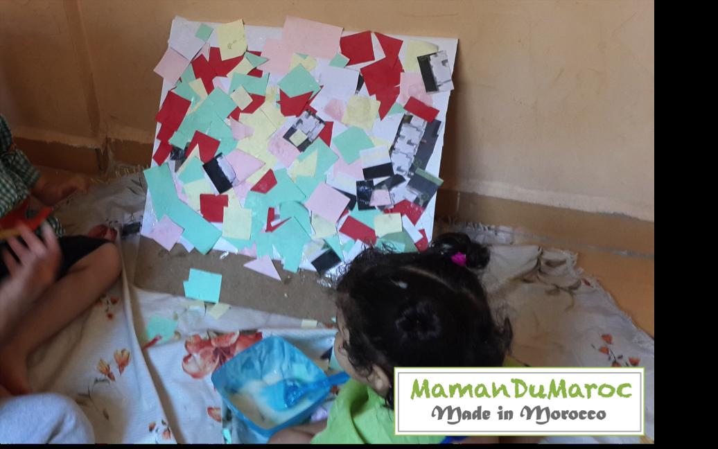 Maman du maroc activit de collage pour enfant - Colle faite maison ...