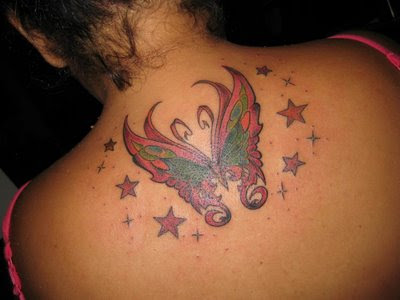 Great Design Upper Back Tattoo Designs For Female