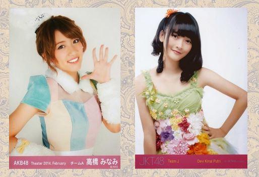 Minami Takahashi (AKB48) % Devi Kinal (JKT48)