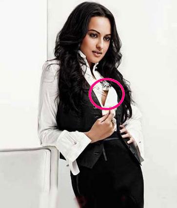 Sonakshi Sinha wardrobe Malfunction Pictures