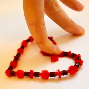 hama bead heart valentines gift