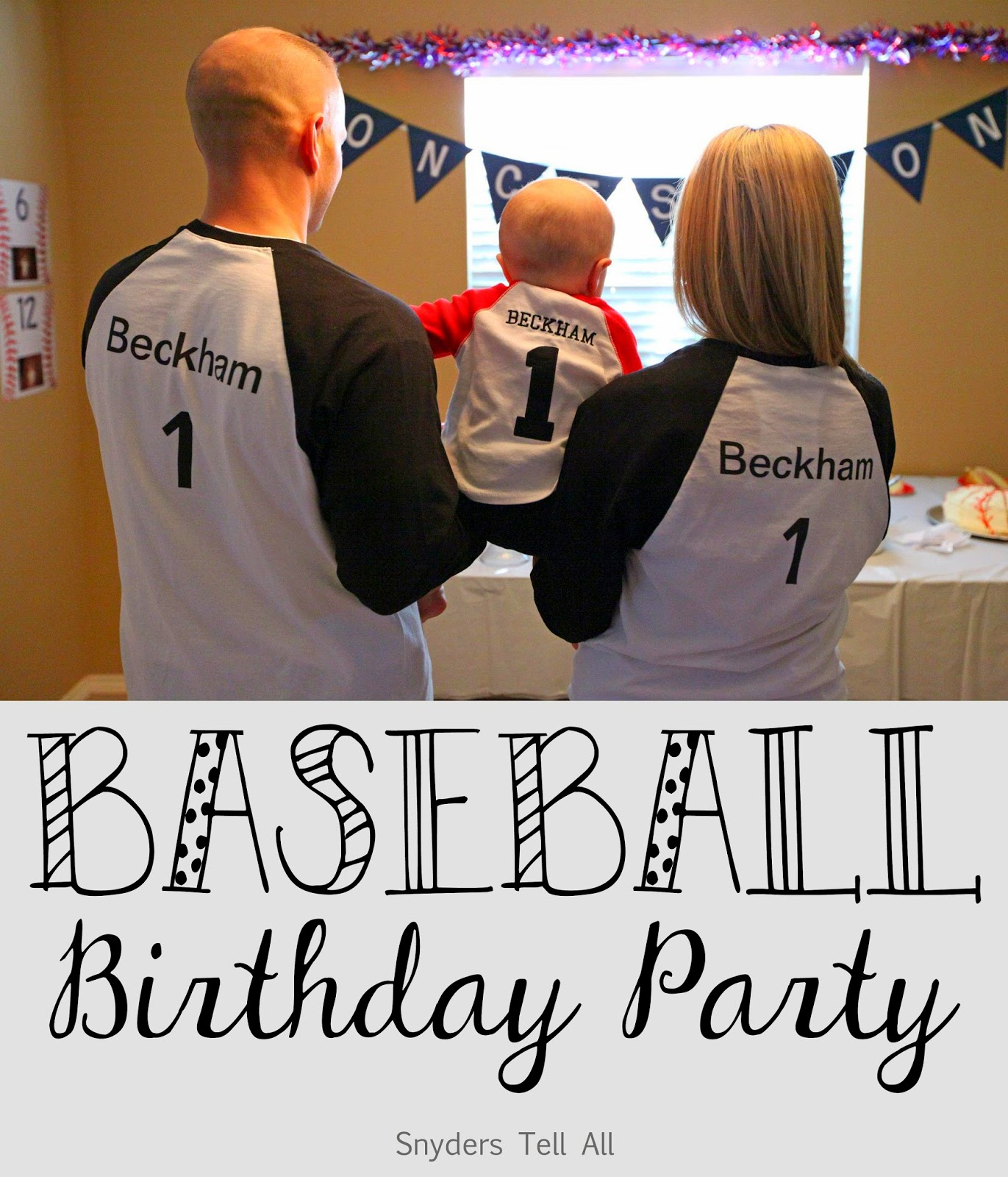 One Of My Favorite Parties Is Beckhams 1st Birthday Party A Baseball Themed I Went Back And Forth Between Soccer Theme