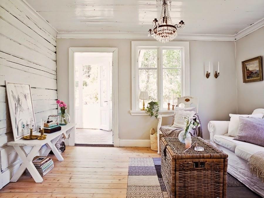dom, wystrój wnętrz, wnętrza, home decor, styl skandynawski, białe wnętrza, shabby chic, drewniana chata, salon, pokój dzienny