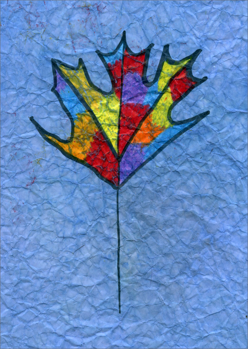 Maple leaf drawing art projects for kids - Leaves paintings and drawings ...