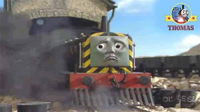 Thomas tank I feel sick whimpered Diesel Mavis the train engine started billowing sooty smoke to