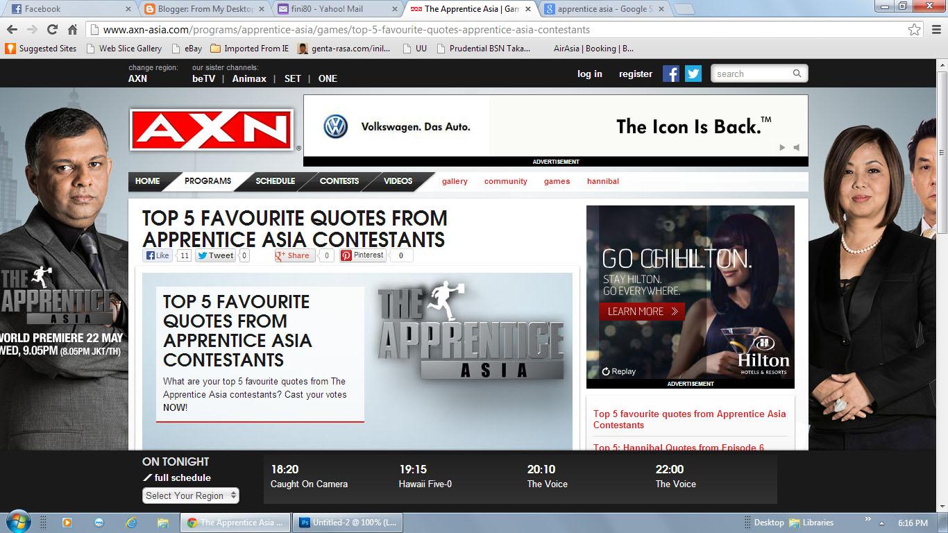 The Apprentice Asia | Cast | AXN Asia