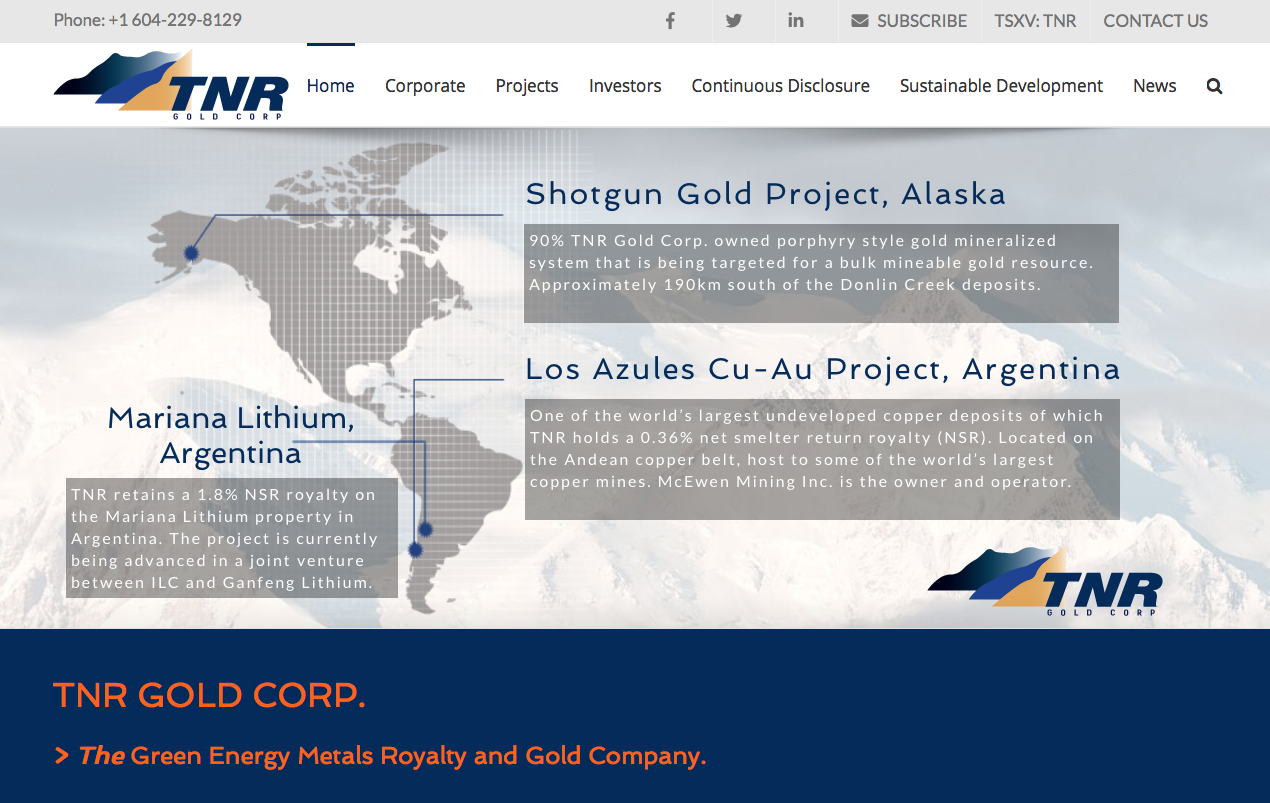 InvestorIntel: The TNR Win-win Formula Of Gold + Copper + Lithium.