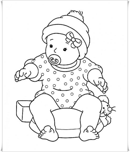 ausmalbilder baby kostenlos